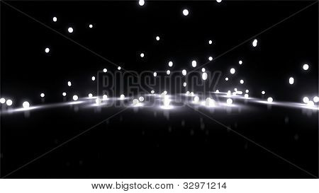 White Bouncing Light Balls Background
