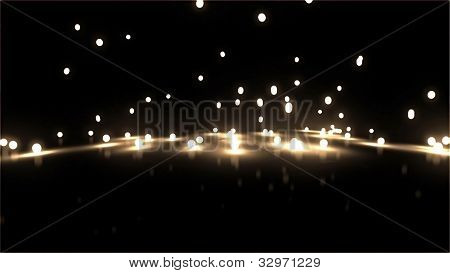 Yellow Bouncing Light Balls Background