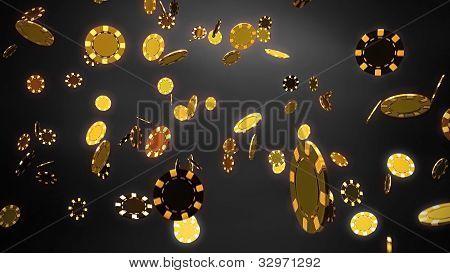 Casino Chips Gold Black