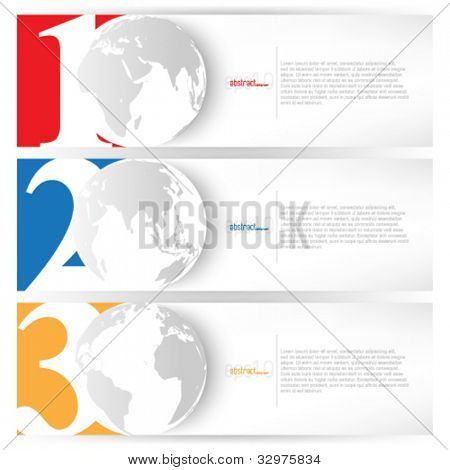 eps10 vector set of business concept background