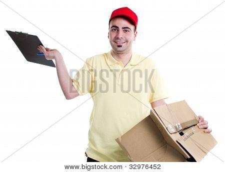 Beschädigten Pakets