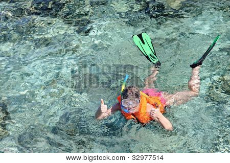 Young Woman Snorkeling