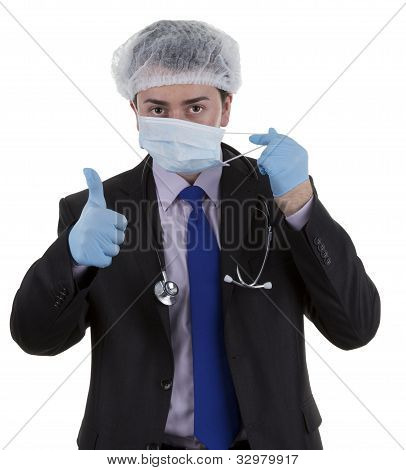 Surgeon With Mask