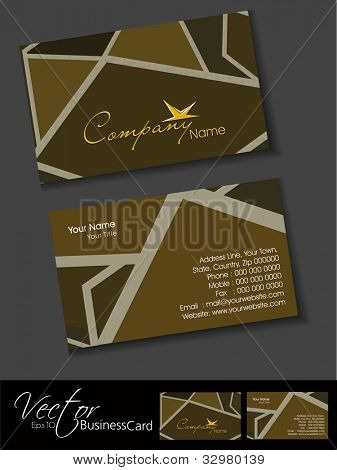Abstract professional and designer business card template or visiting card set. EPS 10. Vector illustration.