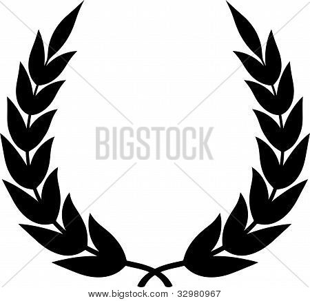Vector Laurel Wreath Isolated On White