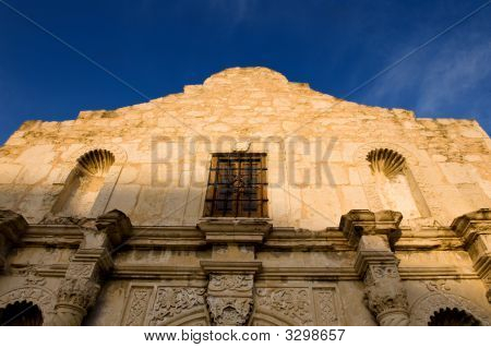 The Alamo On A Bright Blue Sky