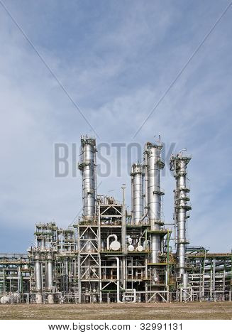 Chemical plant with blue sky