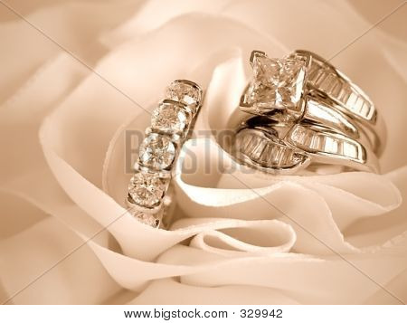 Wedding Rings Sepia Tinted