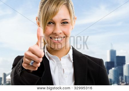 Portrait of a beautiful smiling businesswoman