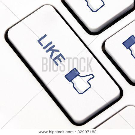 wie Taste der Tastatur
