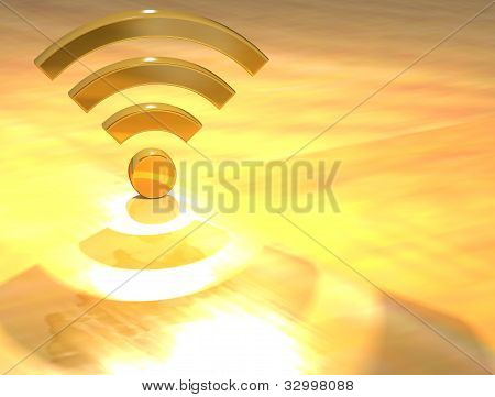 3D Wifi Gold Text