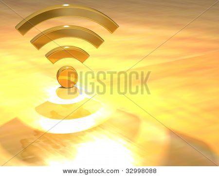 3D Wifi Gold Text