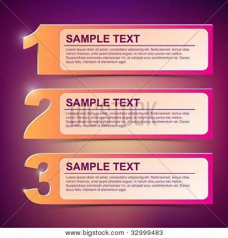 Ilustración de marco de texto de Vector 1-2-3