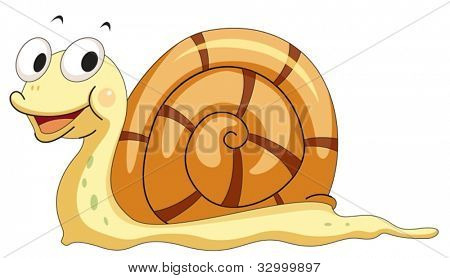 Illustration of a smiling snail