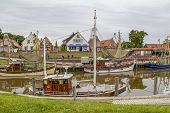 Idyllic Port Scenery In Greetsiel, A Idyllic Village Located In East Frisia, Northern Germany poster
