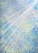 stock photo of abstract painting  - Abstract digital art background of a light ray in softly colored blended clouds - JPG