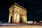 Arc de Triomphe at night Paris