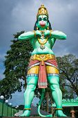 picture of hanuman  - Statue of a giant Lord Hanuman near Batu Caves in Malaysia - JPG