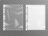 Sheet Plastic Protector, Clear Folder File. Punched Pocket Sheet Mockup Empty A4 poster