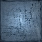 Scratched Blue Grunge Background