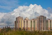 picture of sankt-peterburg  - new apartment house in sunny day - JPG