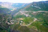 stock photo of ropeway  - Mountains view from ropeway altitude in Armenia - JPG