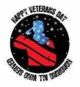 Poster Dedicated To The Day Of Veterans. Honoring Soldiers By Veterans. For Design And Stripes, Chev poster