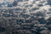 Clouds Reflection On A River Surface, Motion Blur. Landscape. Natural Textured Background. Light Rip poster