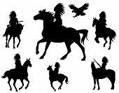 pic of valiant  - wild west theme vector silhouettes  - JPG