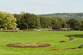 stock photo of bonnes  - Rheinaue a leisure park on the banks of the Rhine in Bonn Germany - JPG