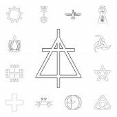 Religion Symbol, Christian Reformed Church Outline Icon. Element Of Religion Symbol Illustration. Si poster