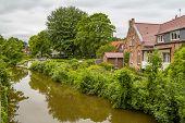 Idyllic Waterside Scenery In Greetsiel, A Idyllic Village Located In East Frisia, Northern Germany poster