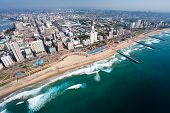 stock photo of cbd  - aerial view of durban - JPG