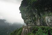 Dangerous Sharp Turns On The Winding Road Of 99 Turns To The Top Of The Tianmen Mountain, Zhangjiaji poster
