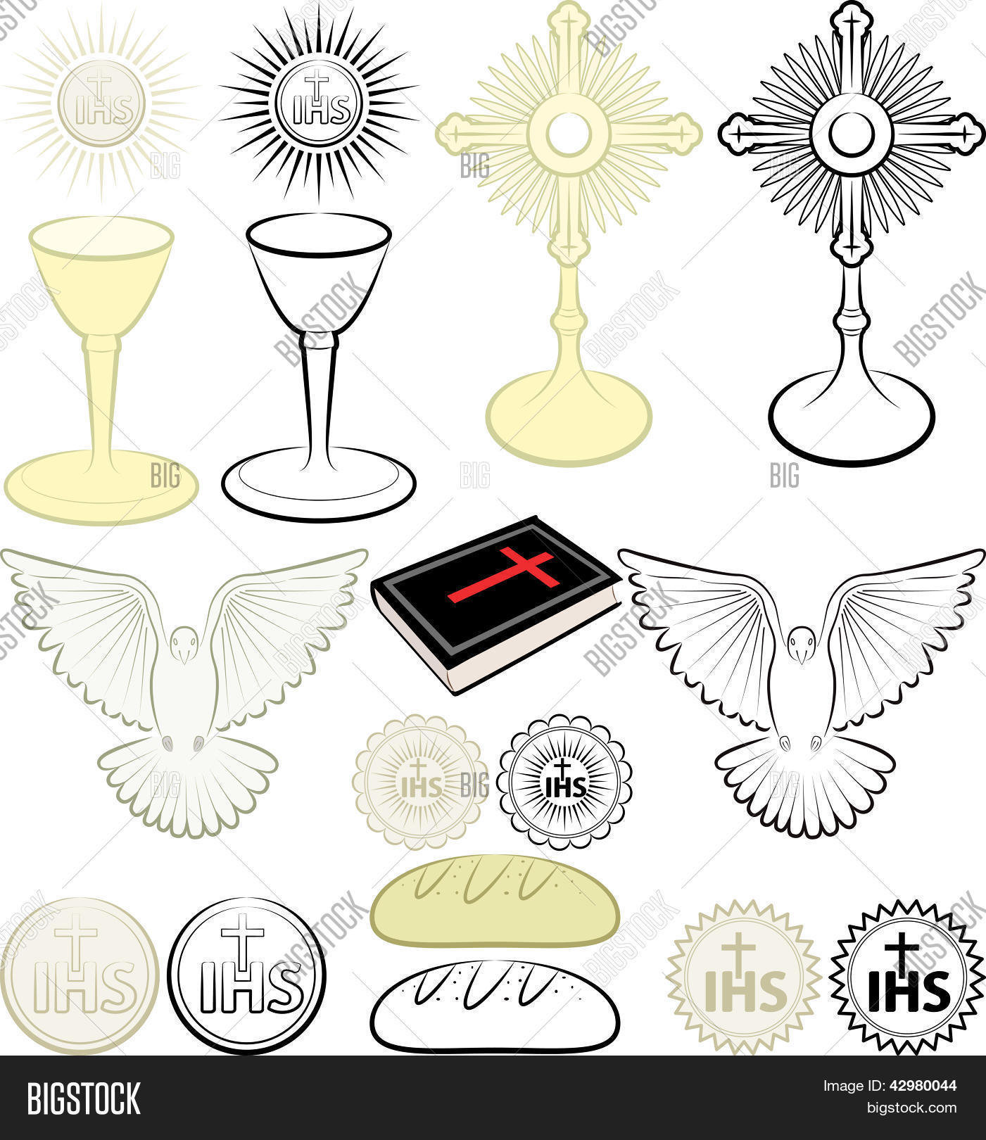 Symbols christianity vector photo bigstock symbols of christianity biocorpaavc Choice Image