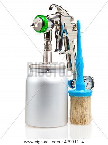 New metal brilliant Spray gun And brush