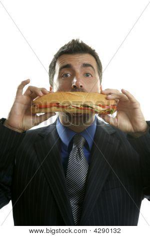 Kaufmann essen Junk-e-Fast-Food
