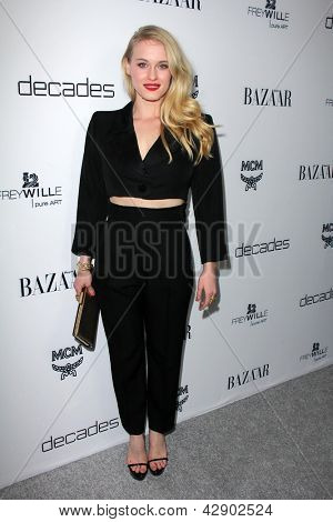 LOS ANGELES - FEB 28:  Leven Rambin arrives at the Harper's Bazaar Celebrates The Launch Of The Dukes of Melrose Event at the Sunset Tower on February 28, 2013 in West Hollywood, CA