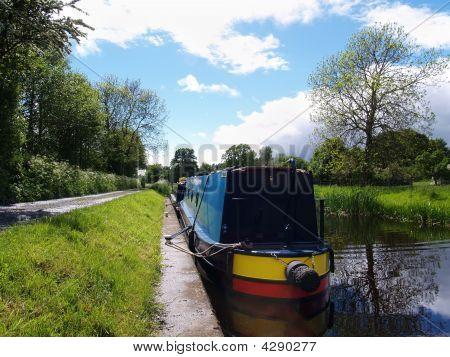 Canal Boat, Shropshire, Uk