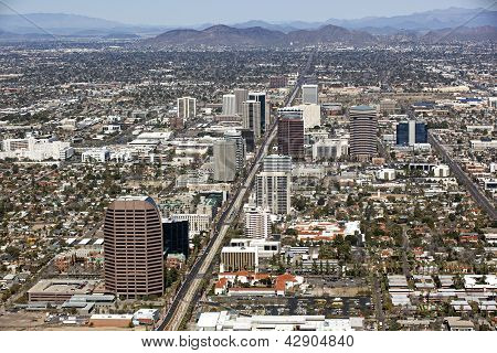 Skyline Of Midtown Phoenix