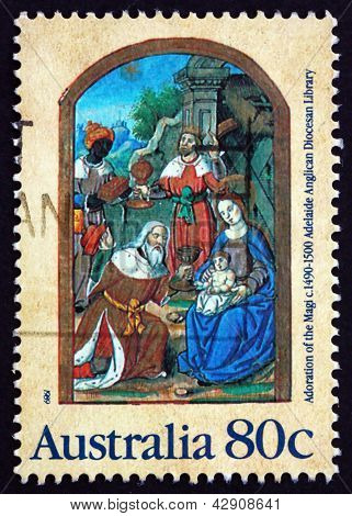 Postage Stamp Australia 1989 Adoration Of The Magi