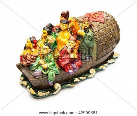 Immortal Of Chinese Stories In Buddhism On The Boat/ Chinese Great Masters In Buddhism On The Boat