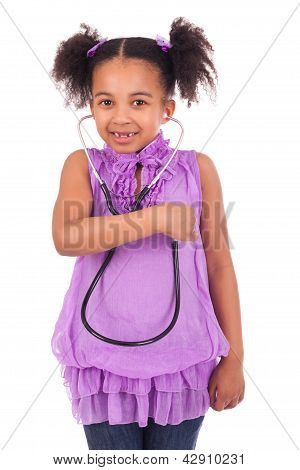 African Child With Stethoscope