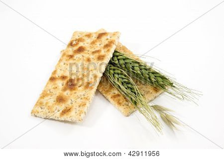 Integral Crackers On White Background