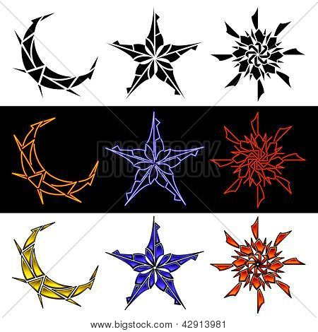 Celestial Designs In Three Styles