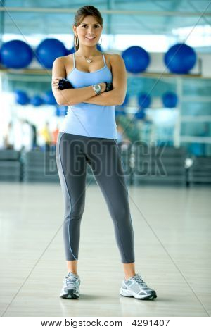 Beautiful Woman At A Gym