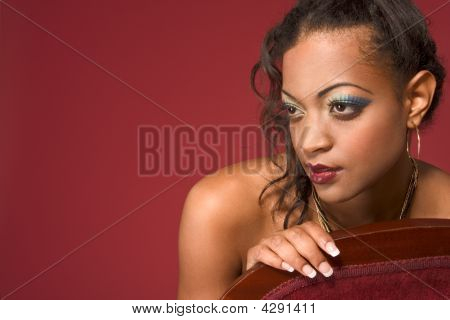 Glamorous Portrait Of Ethnic Woman With Make Up