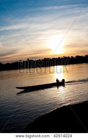 Sunset At River's Caura
