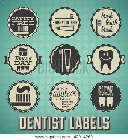 Dentist and Teeth Labels