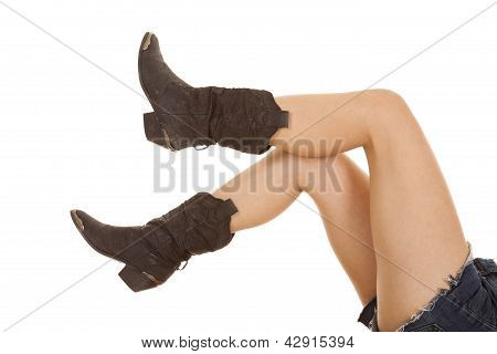 Boots On Legs Kicked Up